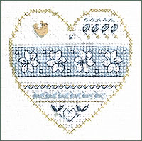 Victoria Sampler - Blue & White Floral - Beyond Cross Stitch - Level 3 Assisi - Embroidery