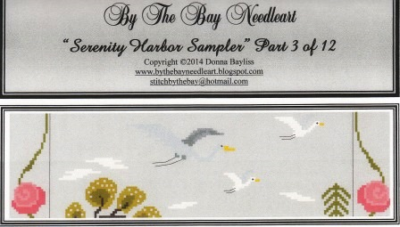 By The Bay Needleart - Serenity Harbor Sampler Series - Part 3 -Cross Stitch Pattern