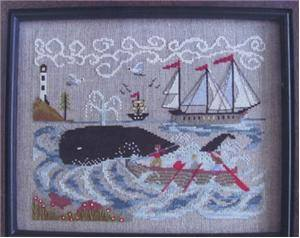 By The Bay Needleart - New England Whaling Waters - Cross Stitch Pattern