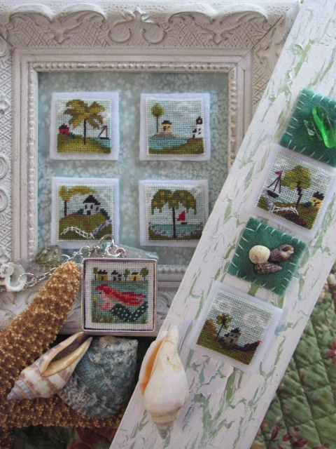 By The Bay Needleart - Stitch An Inch - Summer Pack 1 - Cross Stitch Patterns
