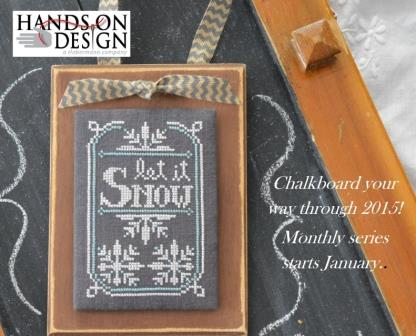 Hands On Design - A Year in Chalk - Part 1 - January - Cross Stitch Pattern
