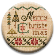 Stitch Dots - Merry Christmas Needle Nanny by Lizzie Kate-Stitch Dots - Merry Christmas Needle Nanny by Lizzie Kate, Christmas, Christmas tree, magnet, cross stitch,