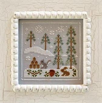 Country Cottage Needleworks - Frosty Forest - Part 4 of 9 - Snowy Friends - Cross Stitch Pattern