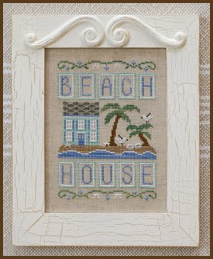 Country Cottage Needleworks - Beach House-Country Cottage Needleworks - Beach House, vacation, cottage, home, ocean, cross stitch