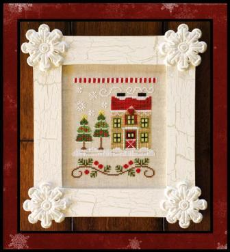 Country Cottage Needleworks - Santa's Village - Part 07 of 12 - Christmas Tree Farm - Cross Stitch Pattern