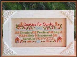 Country Cottage Needleworks - Cookies for Santa - Cross Stitch Pattern