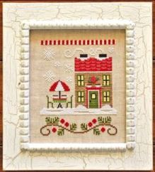 Country Cottage Needleworks - Santa's Village - Part 12 of 12 - Hot Cocoa Cafe - Cross Stitch Pattern