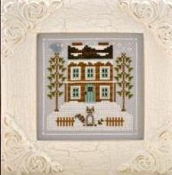 Country Cottage Needleworks - Frosty Forest - Part 1 of 9 - Raccoon Cabin - Cross Stitch Pattern