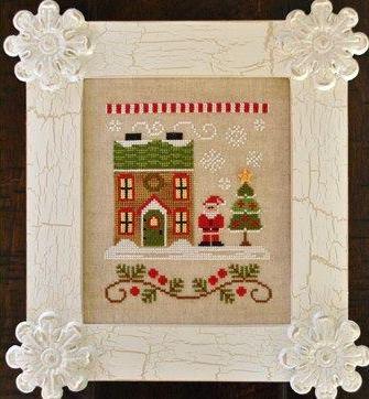 Country Cottage Needleworks - Santa's Village - Part 01 - Santa's House-Country Cottage Needleworks - Santas Village, Santas House, Christmas, Santa Claus, cross stitch