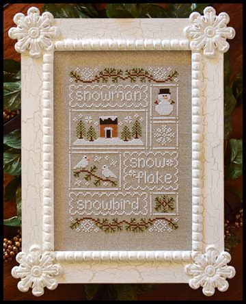 Country Cottage Needleworks - Snow Sampler - Cross Stitch Pattern