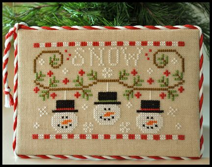 Country Cottage Needleworks - Snowman Trio - Cross Stitch Pattern