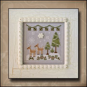 Country Cottage Needleworks - Frosty Forest - Part 2 of 9 - Snowy Deer - Cross Stitch Pattern