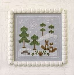 Country Cottage Needleworks Snowy Foxes