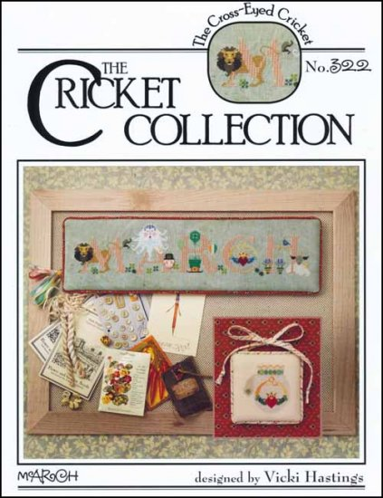 Cross-Eyed Cricket - March - Cross Stitch Pattern