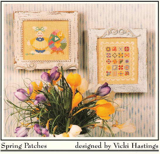 Cross-Eyed Cricket - Spring Patches - Cross Stitch Patterns