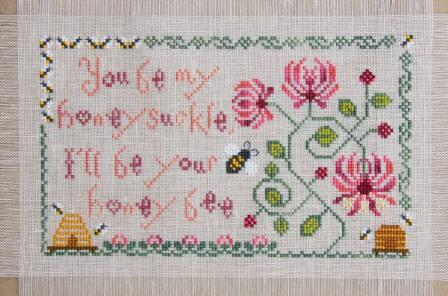 Cottage Garden Samplings - My Garden Journal - Part 06 of 12 - June's Honeysuckle - Cross Stitch Pattern