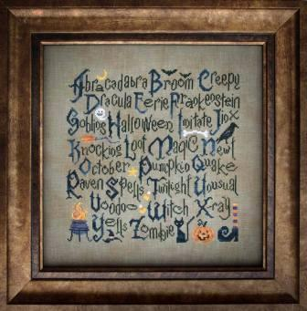 Cottage Garden Samplings - Halloween Sampler - Cross Stitch Pattern