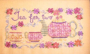 Country Garden Stitchery - Tea for Two - Cross Stitch Pattern