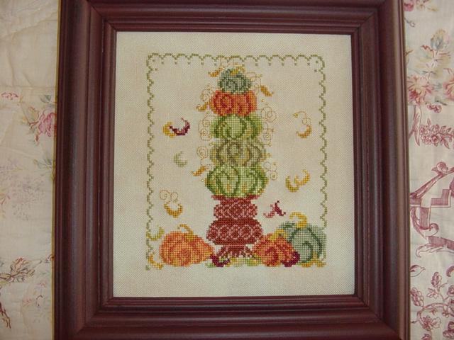 Country Garden Stitchery - Pumpkin Topiary - Cross Stitch Pattern