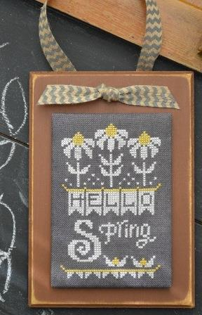 Hands On Design - A Year in Chalk - Part 4 - April - Cross Stitch Pattern
