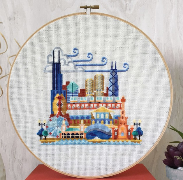 Satsuma Street - Pretty Little Chicago-Satsuma Street - Pretty Little Chicago, windy city, midwest, cross stitch