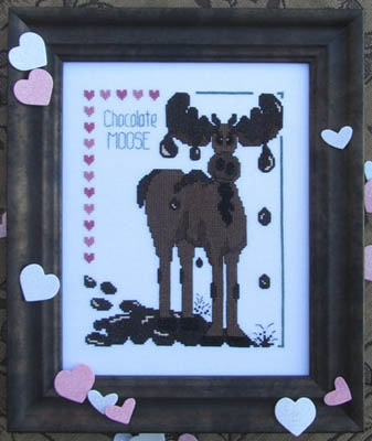 Designs by Lisa - Chocolate Moose - Cross Stitch Pattern