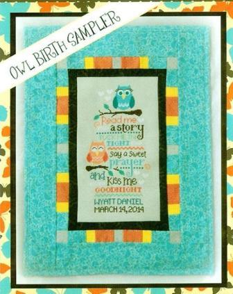 Cherry Hill Stitchery - Owl Birth Sampler - Cross Stitch Pattern
