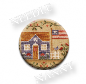 Stitch Dots - Bless Our Home Needle Nanny by Country Cottage Needleworks-Stitch Dots - Bless Our Home Needle Nanny by Country Cottage Needleworks, USA, american, magnets. cross stitch, needle