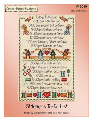 Cross-Point Designs - Stitchers's To-Do List - Cross Stitch Pattern