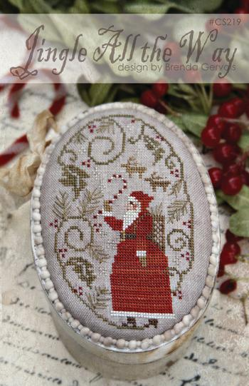 With Thy Needle & Thread - Jingle All the Way-With Thy Needle  Thread - Jingle All the Way, Santa Claus, Christmas, family, Jesus, cross stitch