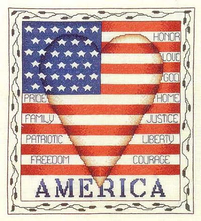 Bobbie G. Designs - America - Cross Stitch Pattern