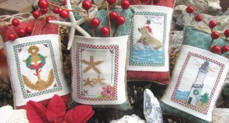 Designs by Lisa - Seaside Christmas - Cross Stitch Pattern