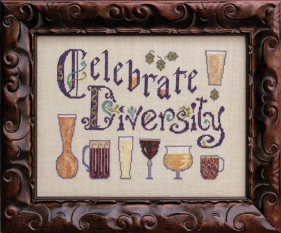 Ink Circles - Diversity in Beer - Cross Stitch Pattern