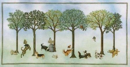 Crossed Wing Collection - Dogs Day Out - Cross Stitch Pattern