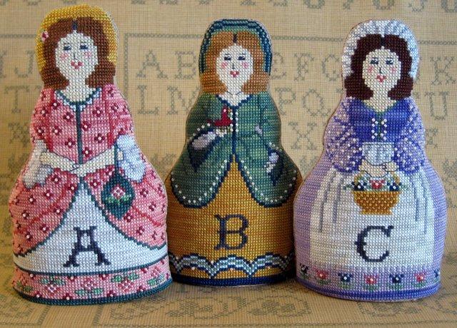 The Needle's Notion - Alphabet Dolls - Cross Stitch Patterns