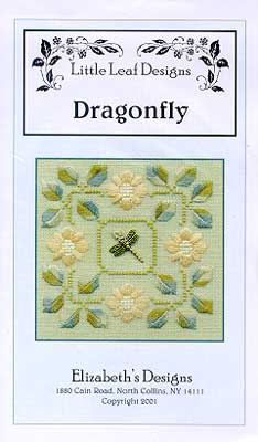 Elizabeth's Designs - Dragonfly II with Charm - Cross Stitch Kit