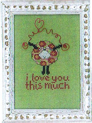 Amy Bruecken Designs - Baby Talk - I Love You This Much! - Cross Stitch Pattern