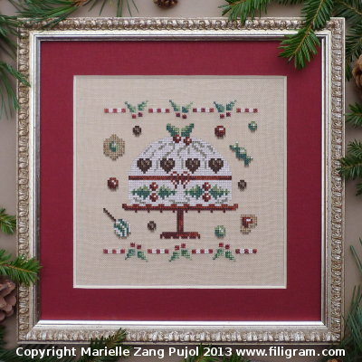 Filigram - Christmas Cookies Collection - Christmas Cake - Cross Stitch Pattern
