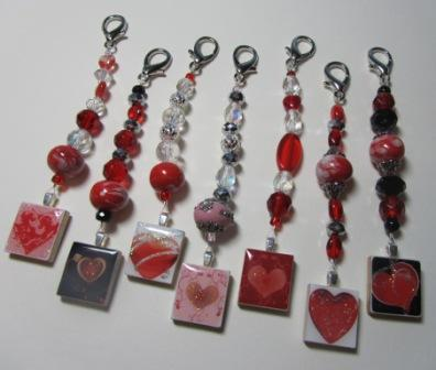 Designs by Lisa - Valentine Fobs - Scissor Fobs