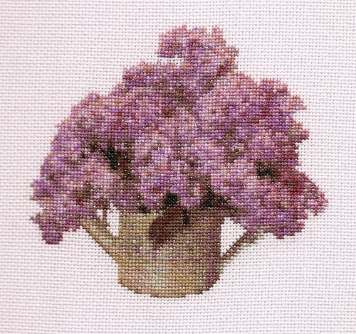 Freda's Fancy Stitching - Spring Lilacs - Cross Stitch Chart