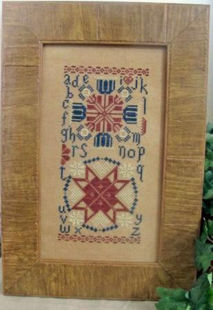 From The Heart - Colorful Quaker Series - Patriotic Quaker - Cross Stitch Pattern