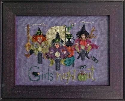Just Another Button Company - Girls Night Out - Cross Stitch Pattern