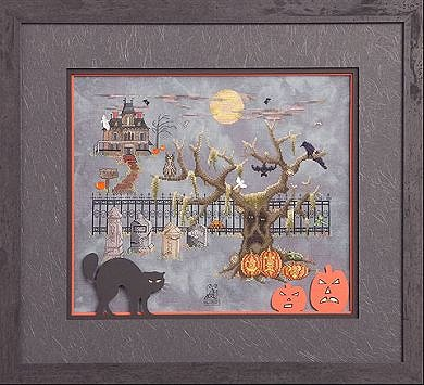 Glendon Place - Grim, Glum and Gloom on Halloween - Cross Stitch Pattern