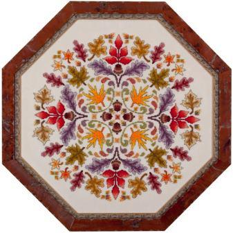 Glendon Place - Autumn Ala Round - Cross Stitch Pattern