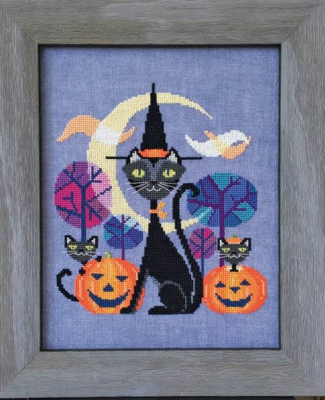 Satsuma Street - Halloween Cat-Satsuma Street - Halloween Cat, Halloween, trick or treat, fall, blakc cat, cross stitch
