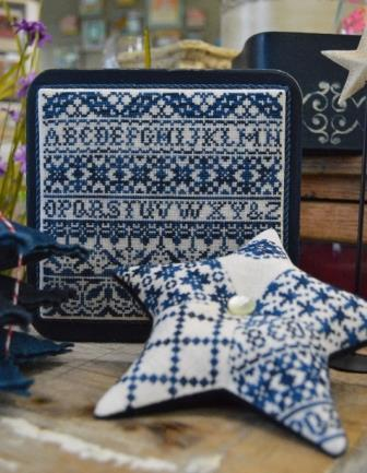 Hands On Design - Indigo Star - Cross Stitch Pattern