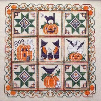 Handblessings - Halloween Quilt - Cross Stitch Pattern