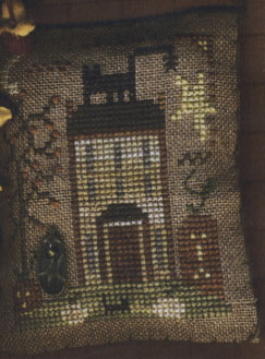 Homespun Elegance - A Halloween Year - July - House on Pumpkin Hill - Cross Stitch Pattern