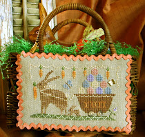 Homespun Elegance - Country Spirits Collection - Delivering Yummy Goodness -Homespun Elegance, Country Spirits Collection, Delivering Yummy Goodness, Spring,  Easter rabbit, Easter Eggs, carros, Cross Stitch Pattern
