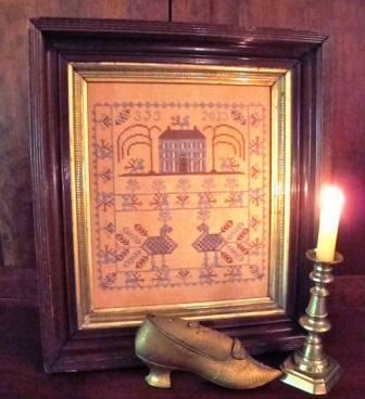 Homespun Elegance - Peacock Manor Sampler & Reproduction Runner - Cross Stitch Patterns